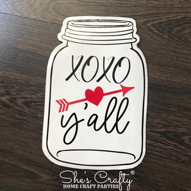 XOXO Y'all Mason Jar Shape Kit