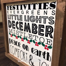 Monthly Mini December Subway Art Kit