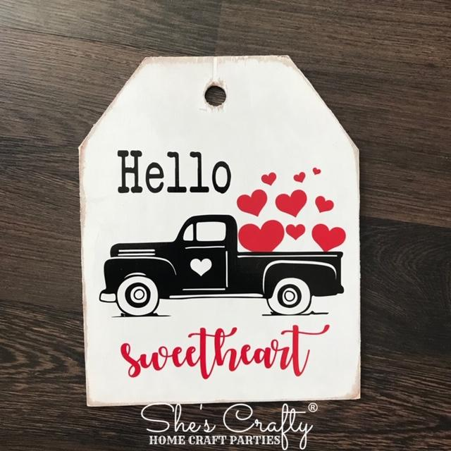 Hello Sweetheart Tag Shape Kit