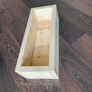 Planter Box Table Top Kit w/ Faux Succulent Picks