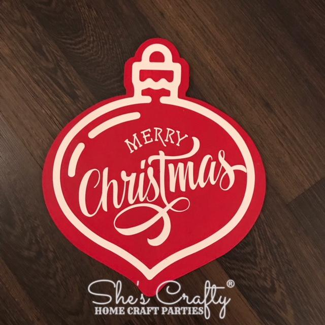 Merry Christmas Ornament Shape Kit