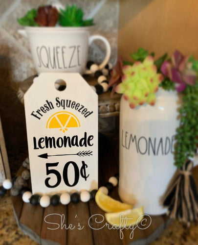 Fresh Squeezed Lemonade Tag Shape Kit
