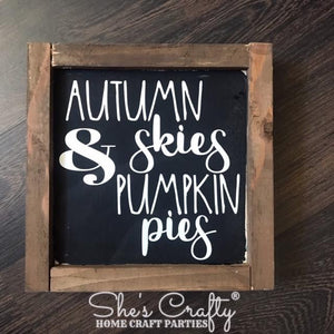 Autumn Skies & Pumpkin Pies Kit