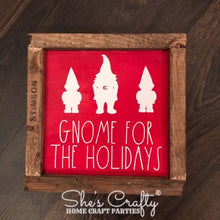Gnome for the Holidays Sign