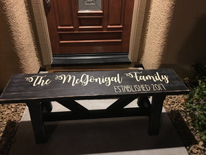 Custom Rustic Entry Bench