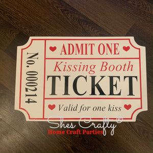 Kissing Booth Ticket Kit