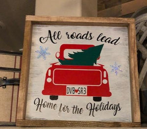 All Roads Lead Home for the Holidays Vintage Truck Kit