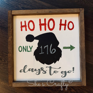 Ho Ho Ho Christmas Countdown Kit