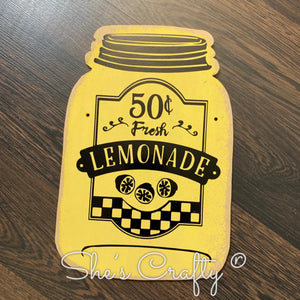Lemonade Mason Jar Shape Kit