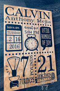 Bundle of Joy Birth Announcement Kit