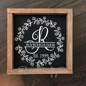 Split Monogram Family Name Kit