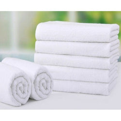 Bath Towels Supreme White Ring Spun 24x48 8.0 Lb