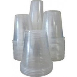 Plastic cup Sleeved Un-wrapped, 9oz.