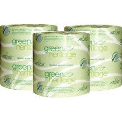 Toilet Tissue Green Heritage#250 2 Ply, 4.5x3.5 500 Sheets/Roll USA