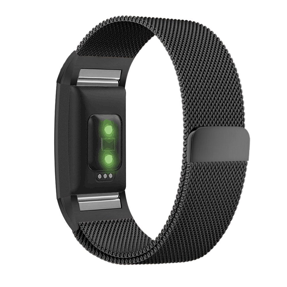 Fitbit Charge 2 Black Metallic Replacement Strap