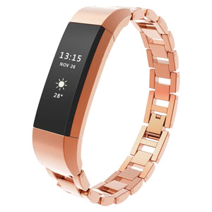 Fitbit Alta HR rose gold link stainless steel strap