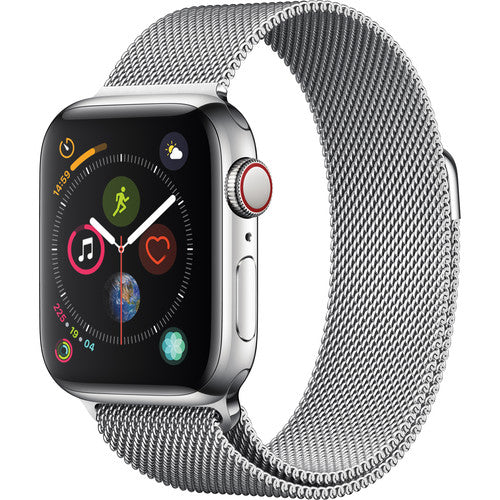 Apple watch series 4 silver metallic strap