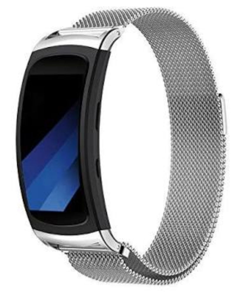 Samsung Gear Fit 2 Pro silver metallic strap