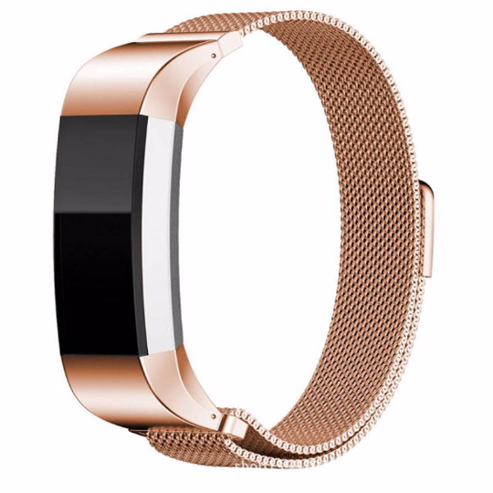 Fitbit Charge 2 Rose Gold Metallic Replacement Strap
