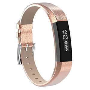 Fitbit Alta HR rose gold genuine leather strap