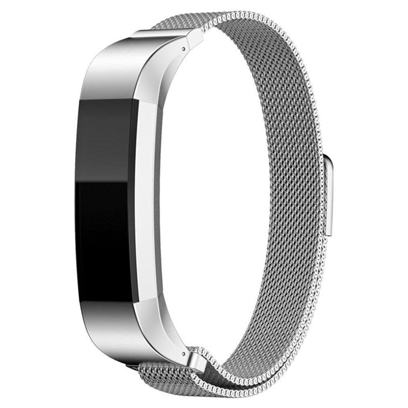 Fitbit Alta Hr Silver Metallic Replacement Strap
