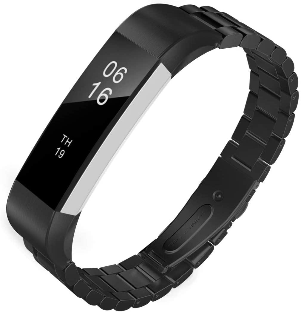 Fitbit Alta/HR black Link Stainless Steel Linked Strap
