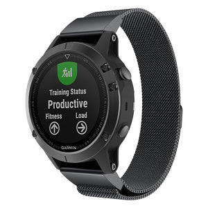 Garmin Fenix 5X black metallic strap
