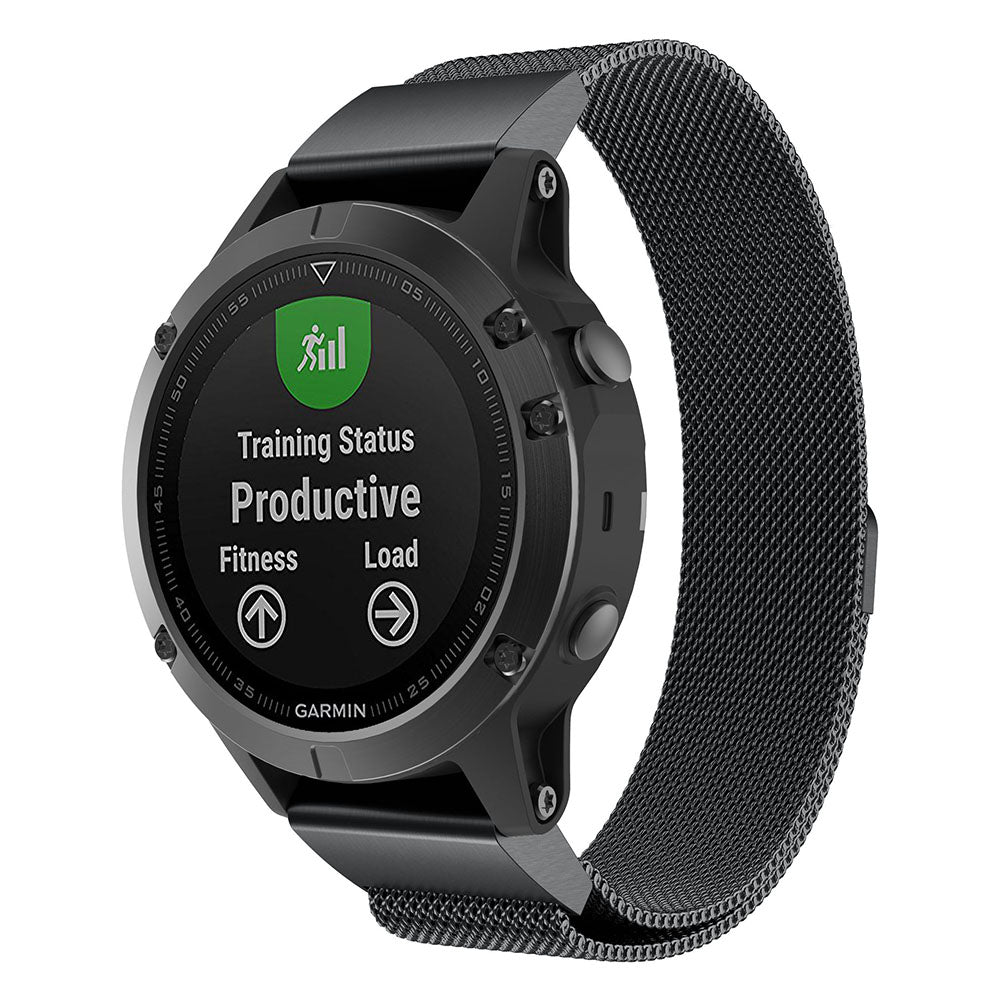 Garmin Fenix 3 black metallic strap