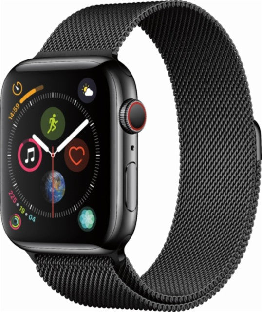 Apple watch series 4 black metallic strap