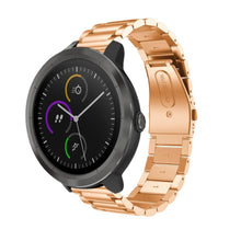 Load image into Gallery viewer, Garmin Vivoactive 3 rose gold stainless steel link strap