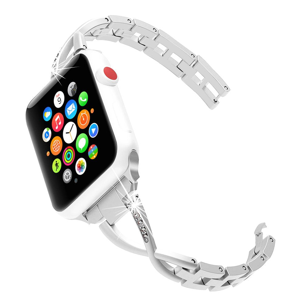 Apple watch silver diamanté linked strap