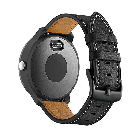 Garmin Vivoactive 3 black genuine leather strap