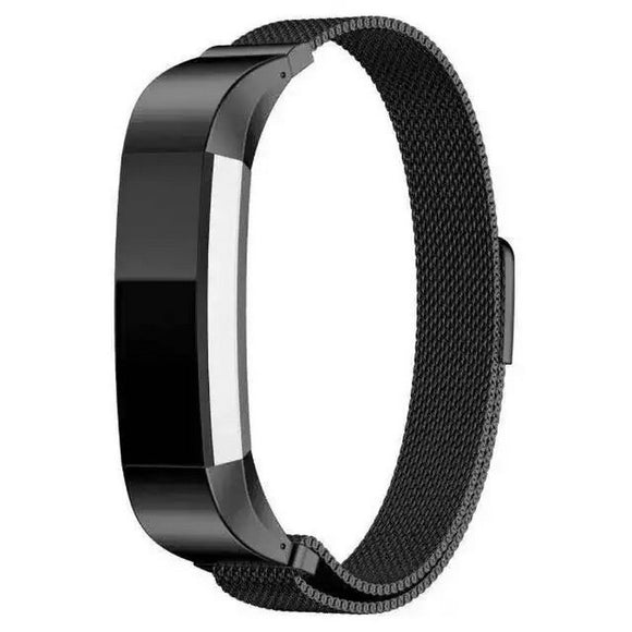 Fitbit Alta Hr Black Metallic Replacement Strap