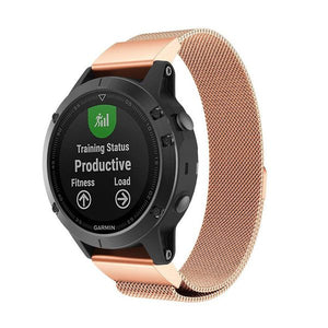 Garmin Fenix 5S/5S plus rose gold metallic strap
