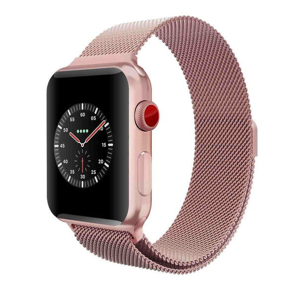 Apple watch series 4 rose gold metallic strap