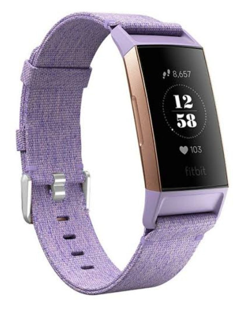 Fitbit charge 3/4 purple nylon strap