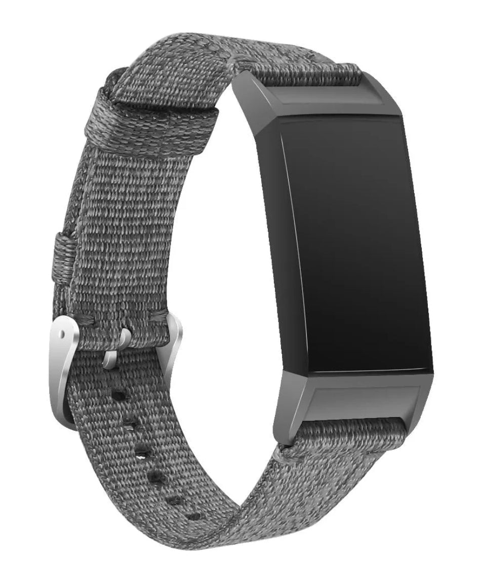 Fitbit charge 3/4 grey nylon strap