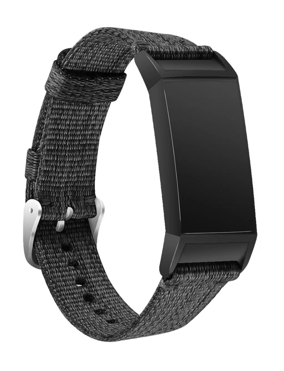 Fitbit charge 3/4 black nylon strap