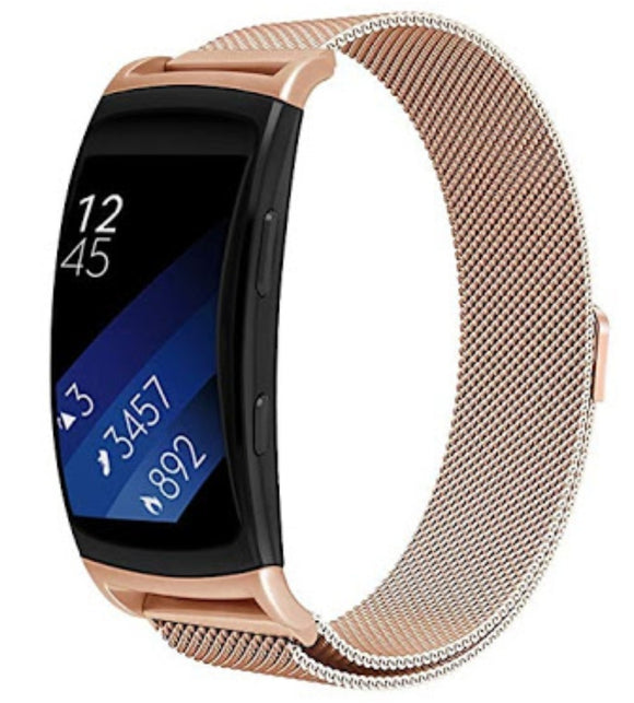 Samsung Gear Fit 2 Pro Rose gold metallic strap