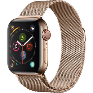 Apple watch rose gold metallic strap