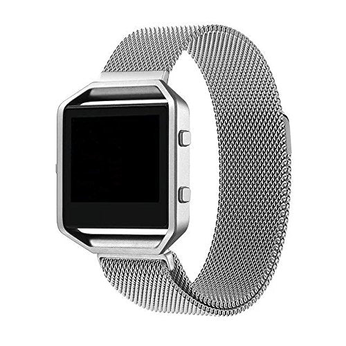 Fitbit Blaze Silver Metallic Replacement Strap