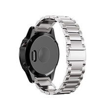 Load image into Gallery viewer, Garmin Fenix 5X silver stainless steel link strap