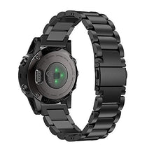 Load image into Gallery viewer, Garmin Fenix 5X black stainless steel link strap