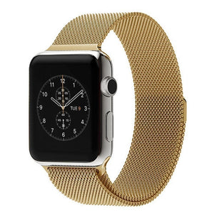 Apple watch gold metallic strap