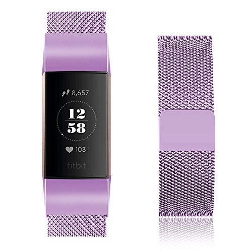 Fitbit Charge 3 lilac metallic strap