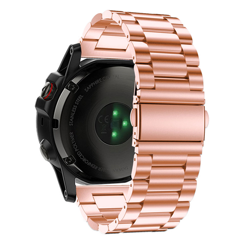Garmin Fenix 5X rose gold stainless steel link strap