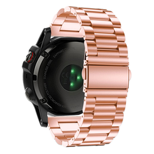 Load image into Gallery viewer, Garmin Fenix 5X rose gold stainless steel link strap