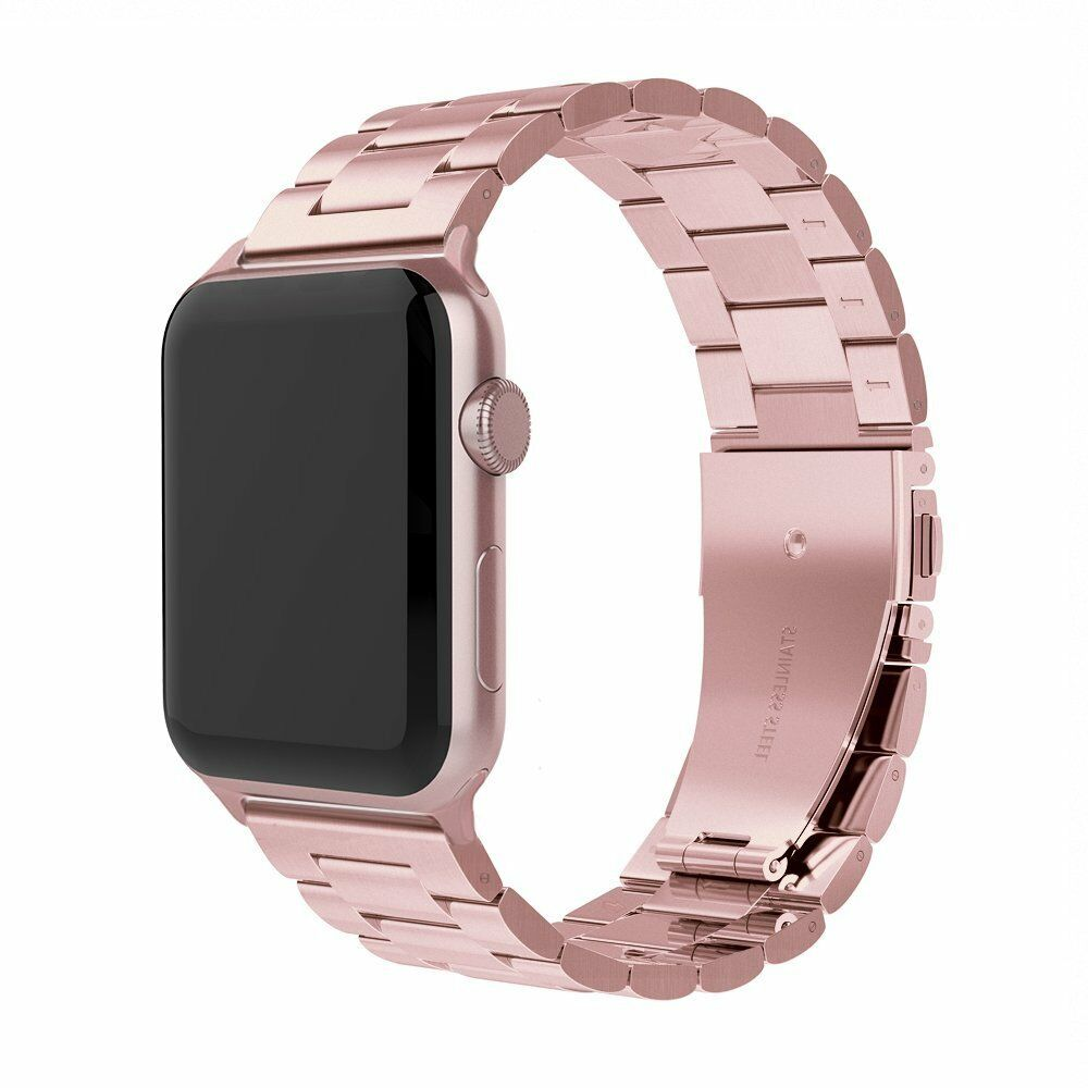 Apple watch rose gold stainless steel link strap