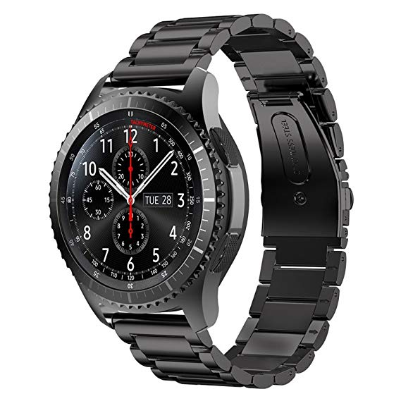 Samsung Gear S3 black stainless steel link strap