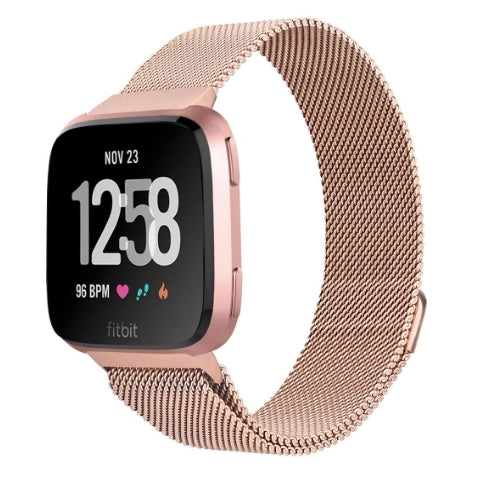 Fitbit Versa peach rose gold metallic  strap